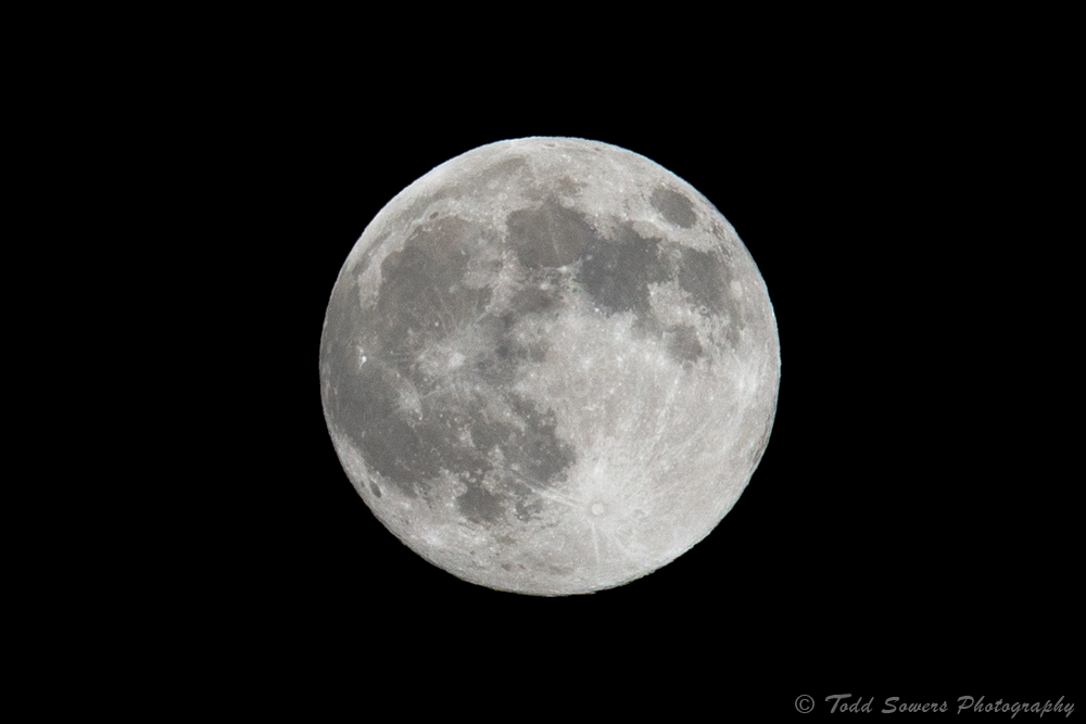 A photo of the 2013 Super Moon, taken Saturday night about 7 hours before the Moon was officially full and at its perigee with Earth. Submitted by: Todd Sowers