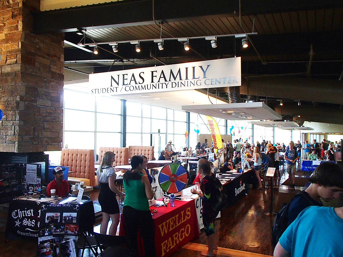The first week of fall semester at Colorado Mountain College in Steamboat Springs included a community fair on Aug. 29. Students had the opportunity to learn about local agencies and student clubs while enjoying music and fun activities. More than 40 clubs and community organizations participated in the fair. Community organizations in attendance included Vectra Bank, Coaching Academics, Anytime Fitness, Bank of the West, Steamboat Resort, Planned Parenthood, Powder Pursuits, Wendy's, Union Wireless, Horizons, STARS, Christy Sports, Democrats of Routt County, Republicans of Routt County, Pregnancy Resource Center, Young Life, Skate Church, Deluxe Tattoo, Advocates and Hungry Dog. Photo by: Todd Schuster. Submitted by: Debra Crawford