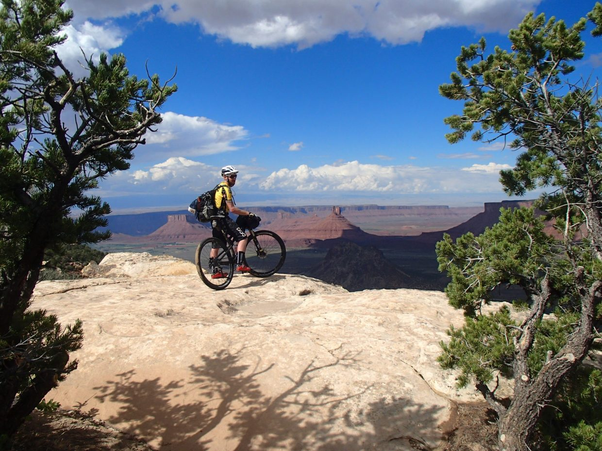 Nate Bird takes in the view of Castle Overlook along the trail. Bird said that even though some days were trying, he would take on the 215-mile trail again in a heartbeat.