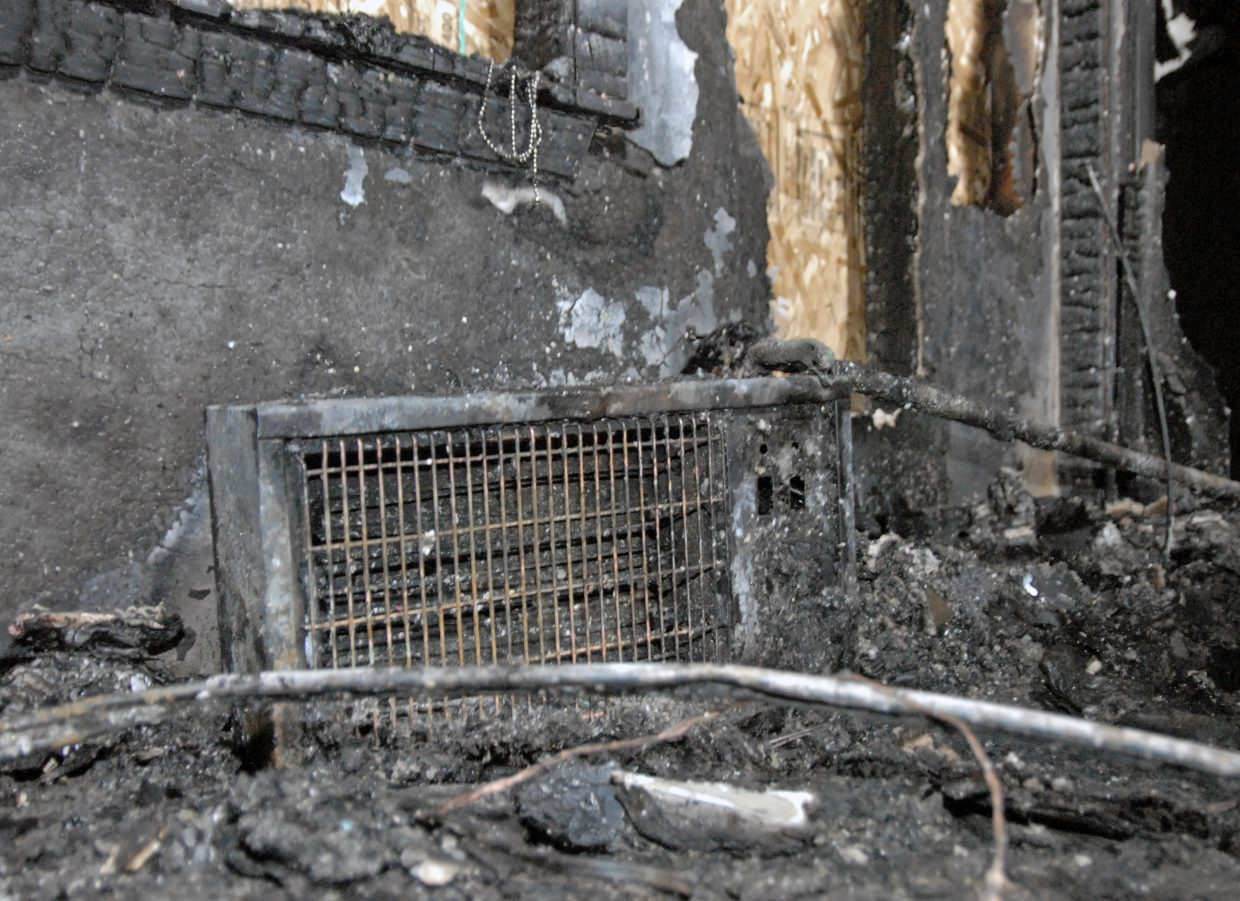 A bedroom space heater at 1912 Woodland Ave. The heater is suspected of being the cause of a Tuesday night fire in Craig, but fire officials said Wednesday the origin could not be determined.
