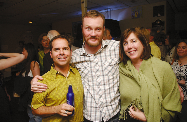 """Steamboat Springs residents, from left, George Danellis, David Willis and Jennifer Jones attend a """"Cabaret"""" performance at Steamboat Mountain Theater, which closed its doors in May."""