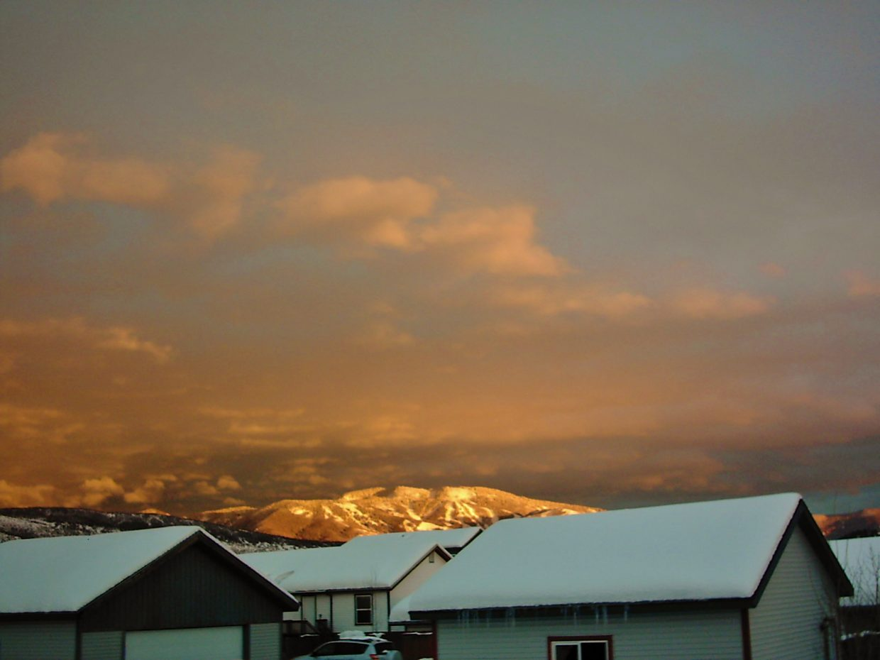 Alpenglow. Submitted by: Bill Dorr