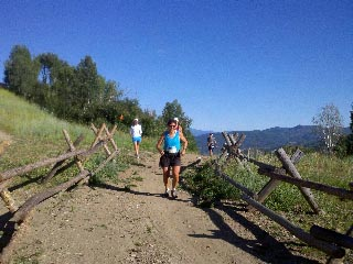 Betsy Frick runs in the Mount Werner Classic on Saturday in Steamboat Springs.