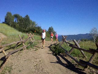 Tom Nelson leads some runners during the Mount Werner Classic race on Saturday in Steamboat Springs.