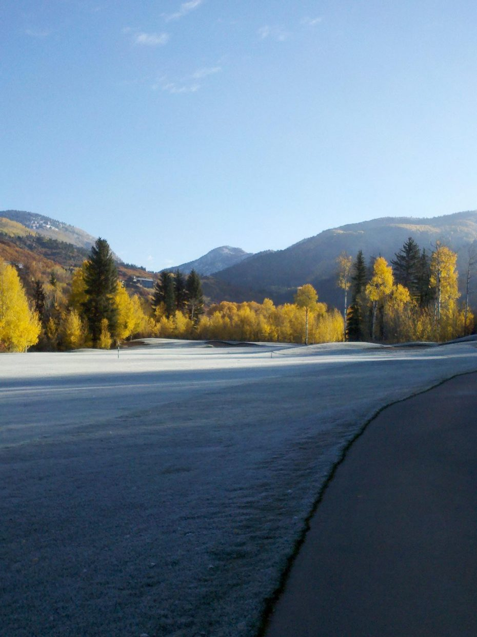 Frost at the Rollingstone Ranch Golf Club on Oct. 18. Submitted by: Graham McDaniel