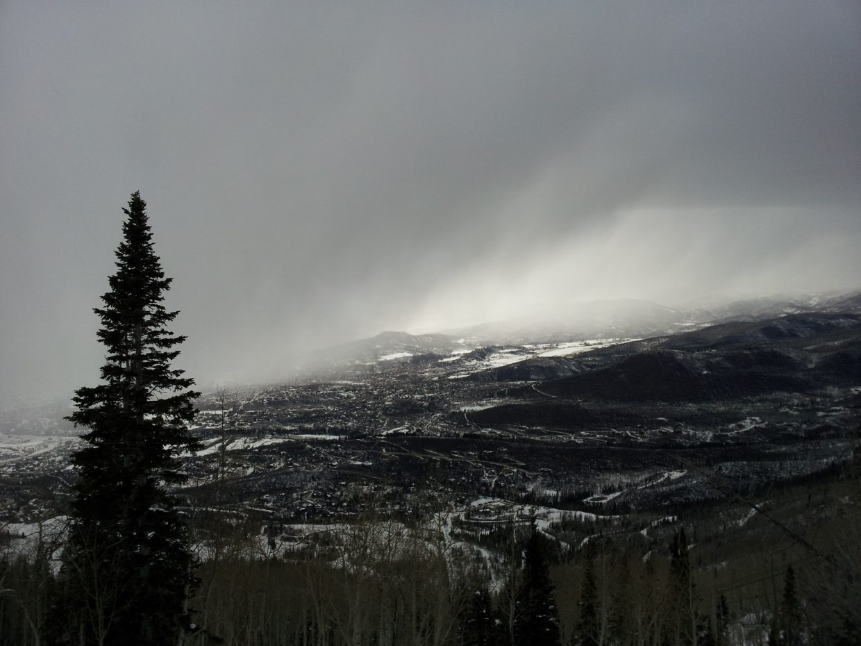 Winter storm rolling into Steamboat Springs. Submitted by: Matthew Grasse