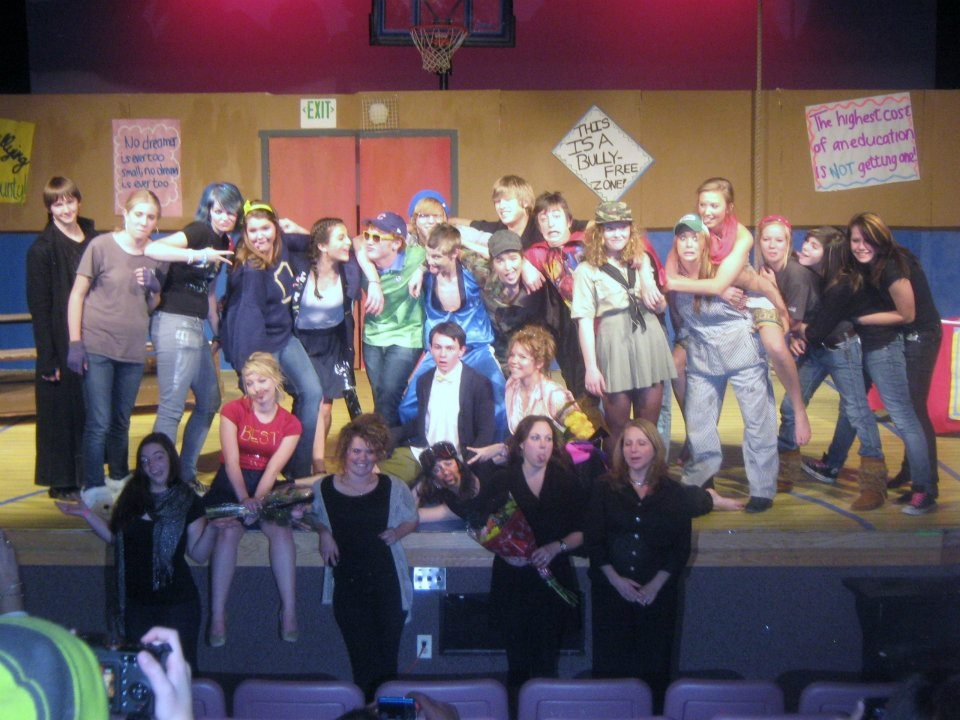 """Full cast of the final show of the Steamboat Springs High School's """"25th Annual Putnam County Spelling Bee"""" musical. Submitted by: Kat Kelly"""