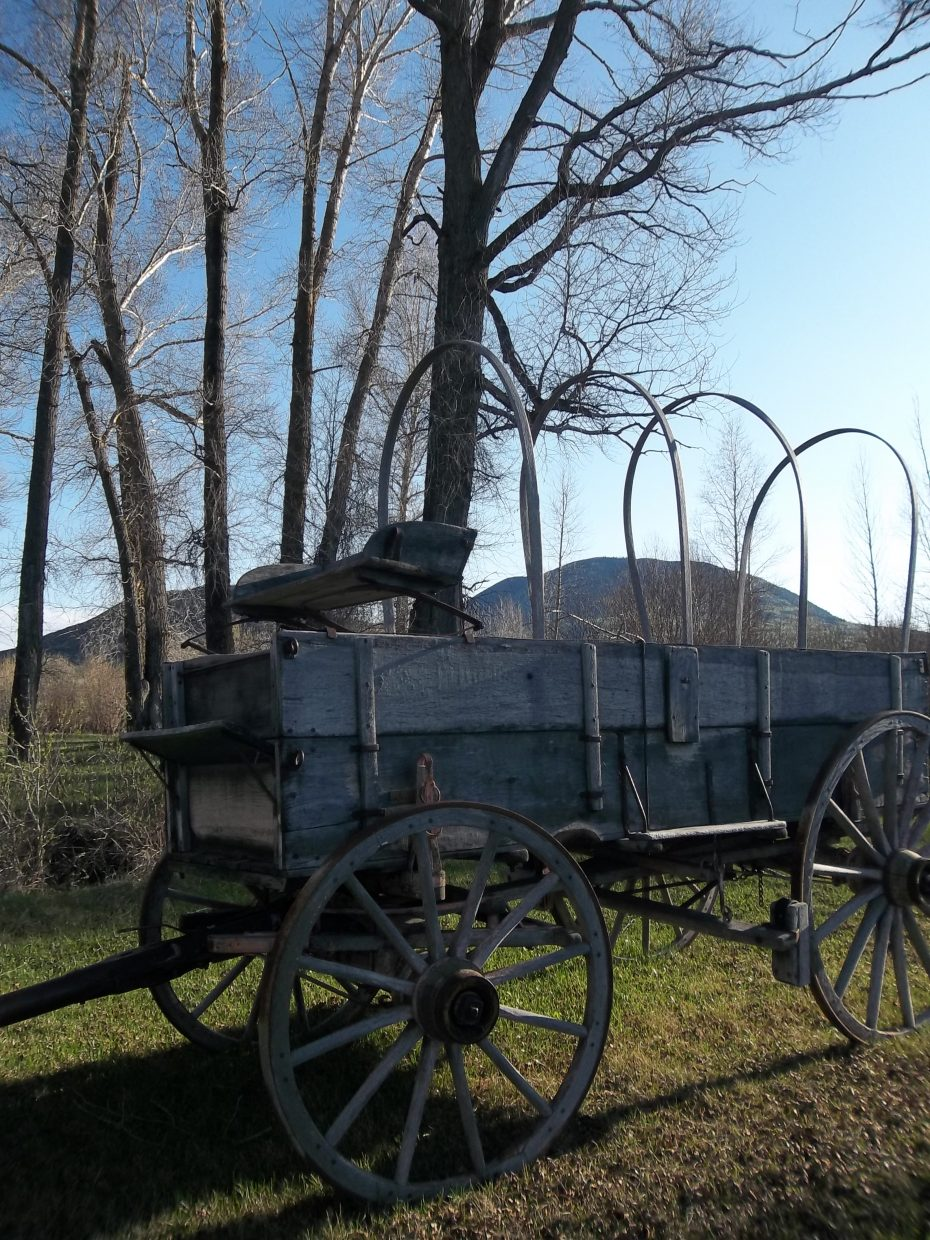 Yeager's old wagon. Submitted by: Bill Dorr