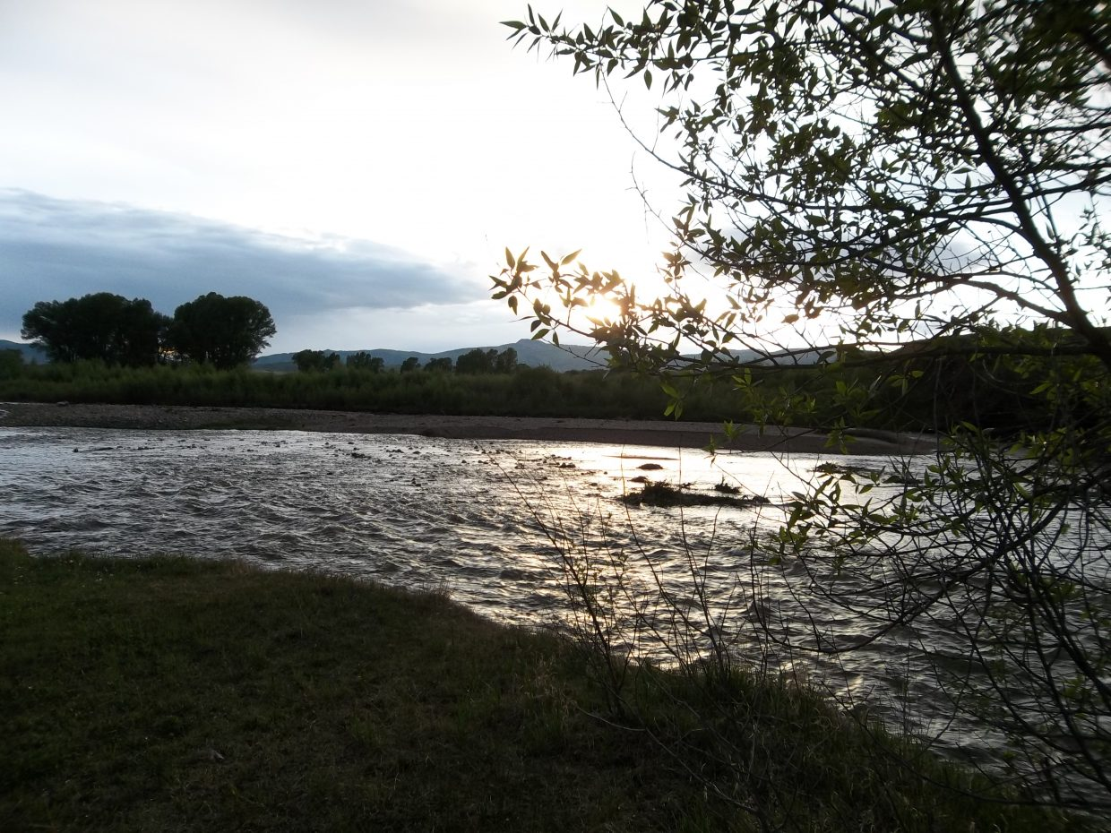 Sunset on the Elk River. Submitted by: Bill Dorr