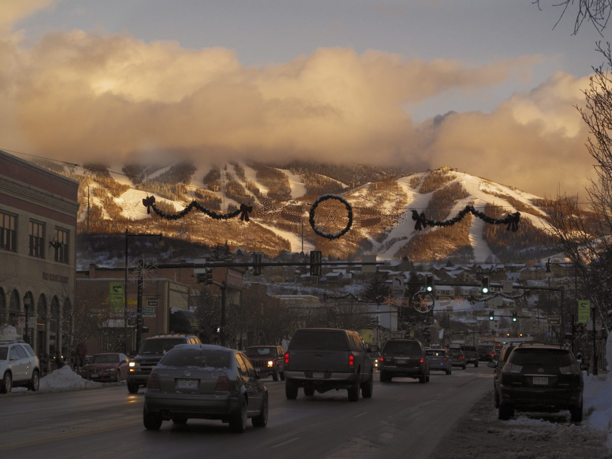 Downtown Feb. 9 at dusk in Steamboat Springs. Submitted by: Matthew Grasse