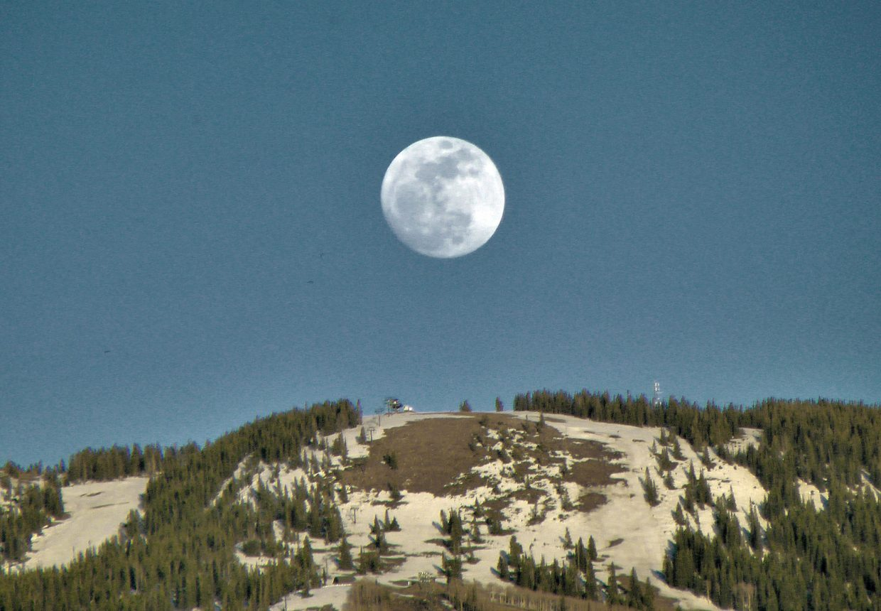 The moon is big, wait until tomorrow. Submitted by Matthew Grasse