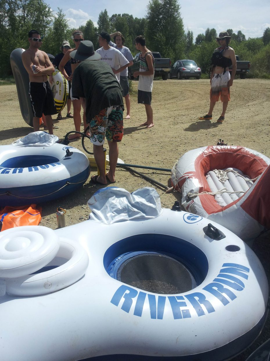 Tubing the Yampa River. Submitted by: Matthew Grasse