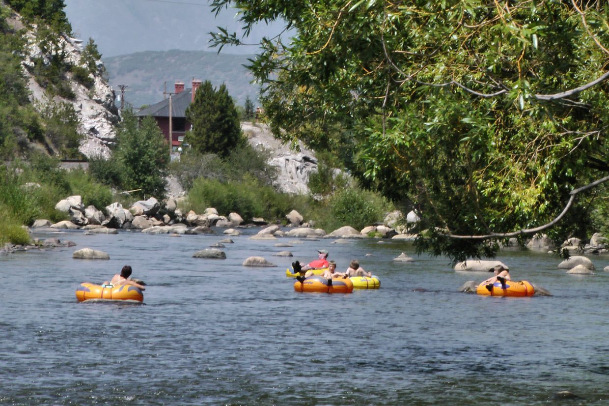 Tubers float the Yampa on Tuesday. Submitted by: Matthew Grasse