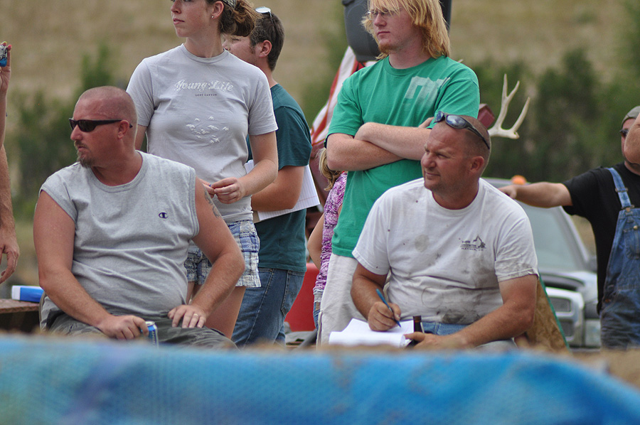Mud surfing judges at the Routt County Redneck Olympics. Submitted by: Wendy Lind