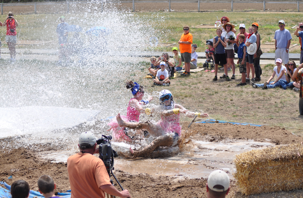Mud surfing at the Routt County Redneck Olympics. Submitted by: Wendy Lind