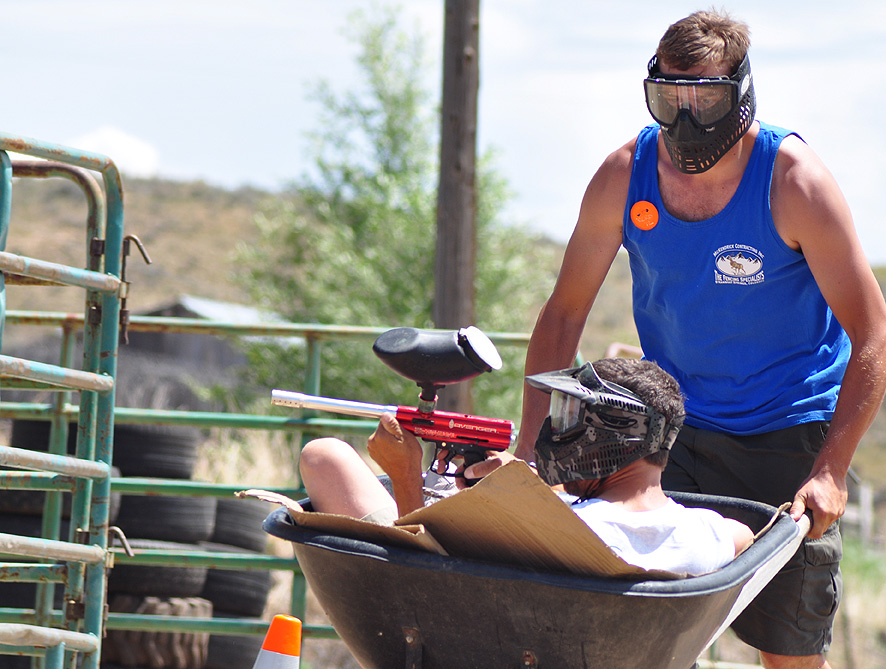 Paint ball competition at the Routt County Redneck Olympics. Submitted by: Wendy Lind