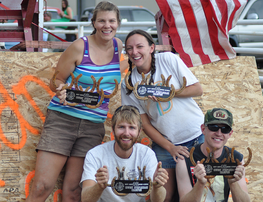 Steeple Chase champs at the Routt County Redneck Olympics. Submitted by: Wendy Lind