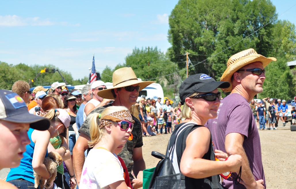 Crowd during the paintball event at the Routt County Redneck Olympics. Submitted by: Wendy Lind