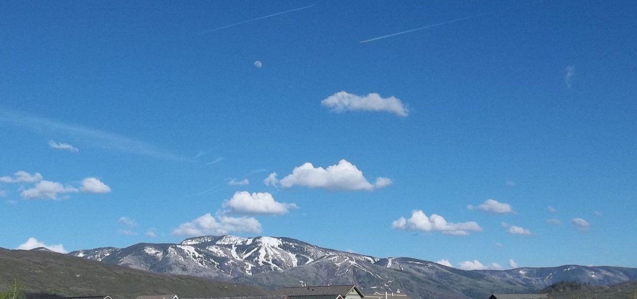 Moon over Mount Werner. Submitted by: Bill Dorr