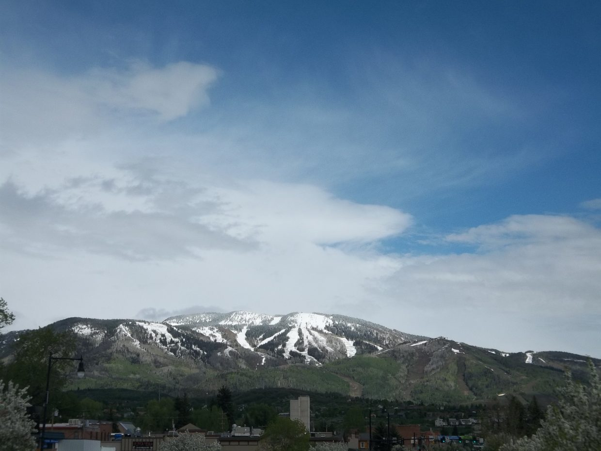 Snow on Mount Werner. Submitted by: Bill Dorr
