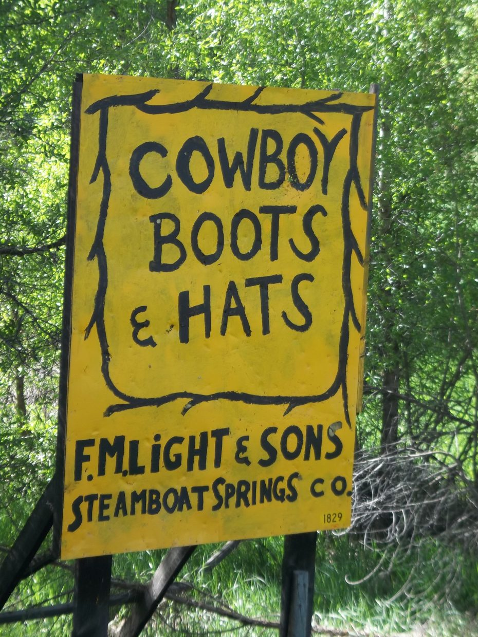 """A local landmark, with a shotgun blast throught it ...""""o"""" in cowboy. Submitted by: Bill Dorr"""