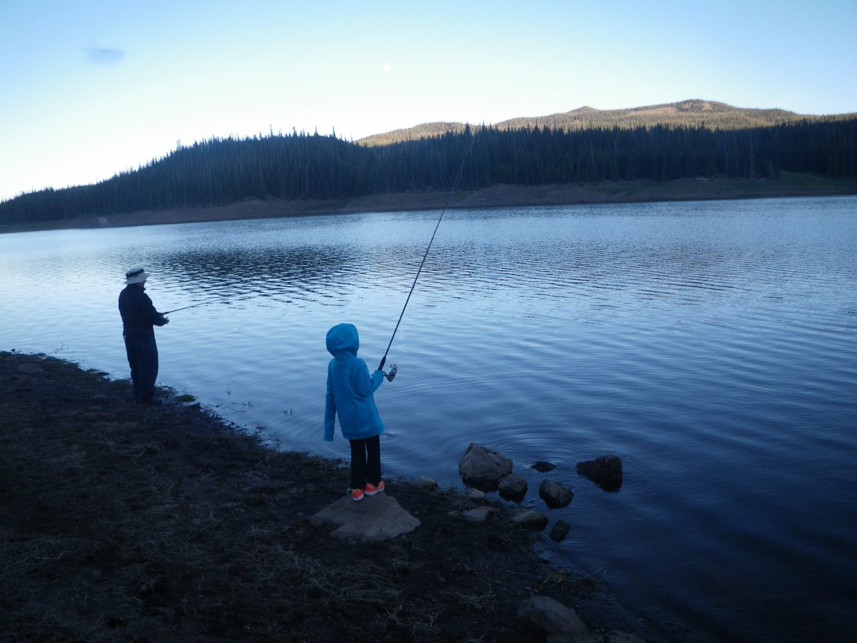 Fishing at yamacolo on the solstice. Submitted by: Jill Andrews