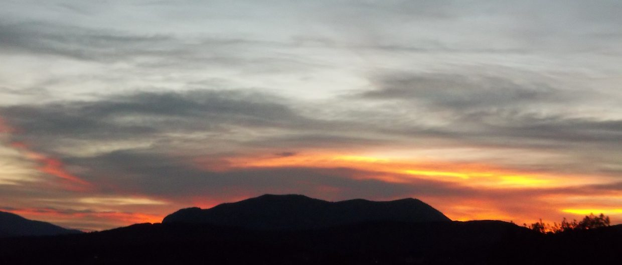 Sleeping Giant sunset. Submitted by: Bill Dorr