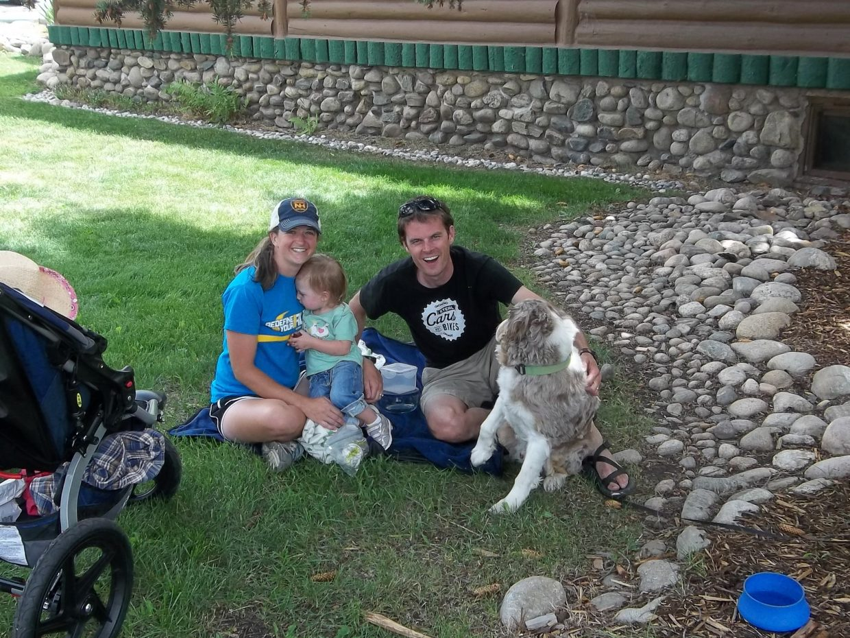 McGowan family rests in the shade after the Farmers Market and Art in the Park. Submitted by: Bill Dorr