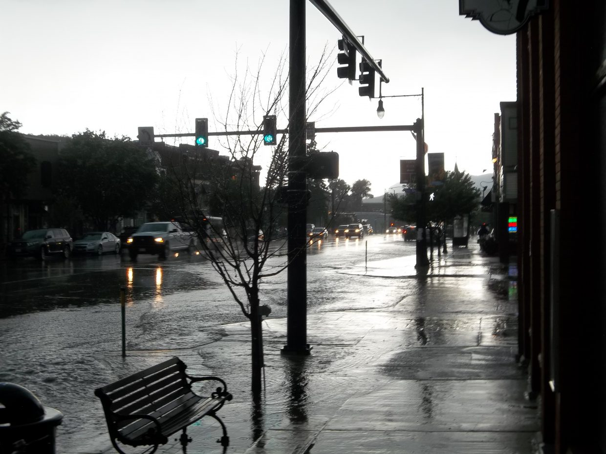 The water on Lincoln Avenue. Submitted by: Bill Dorr