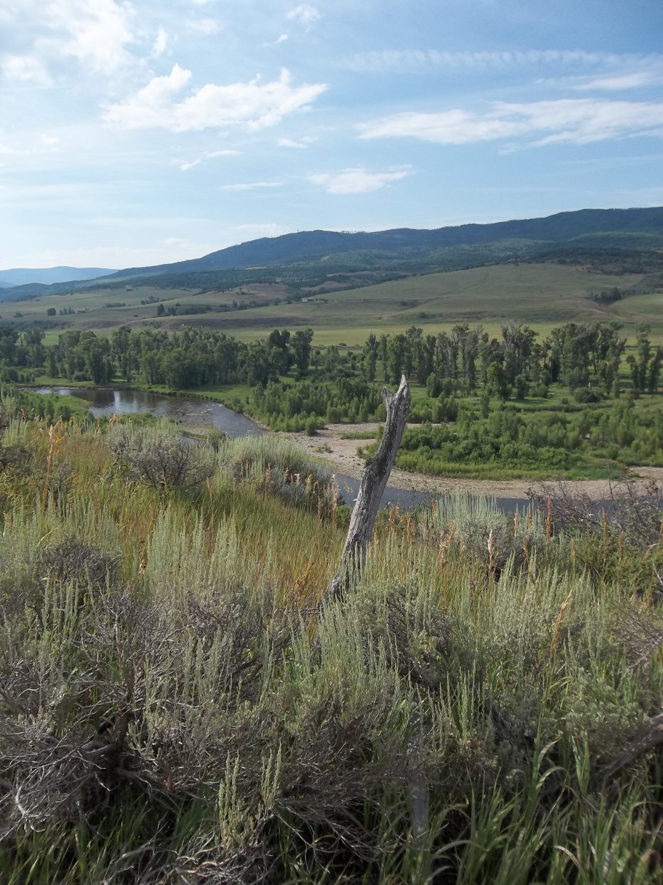 Overlooking the Yampa River Valley. Submitted by: Bill Dorr