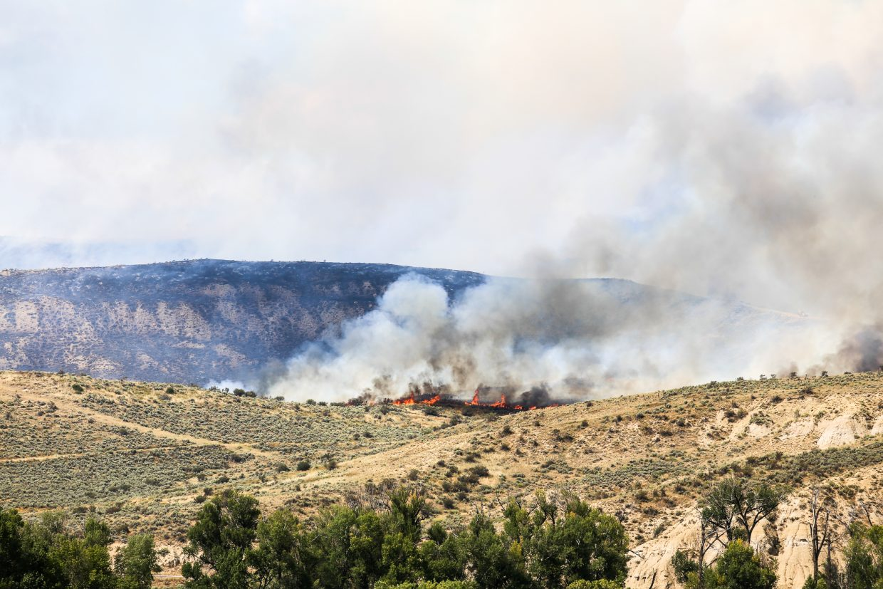 The Cog Fire burns near Hayden.
