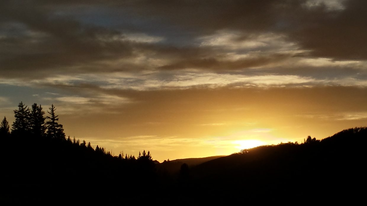Taken from my house out in Lynx Pass. Submitted by: Courtney Coope