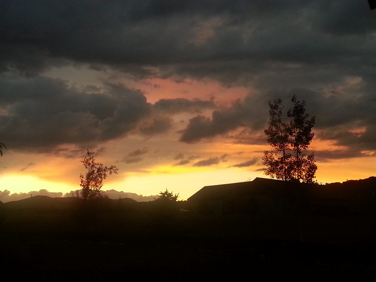 Sunset after the thunderstorms. Submitted by: Karen Lewer