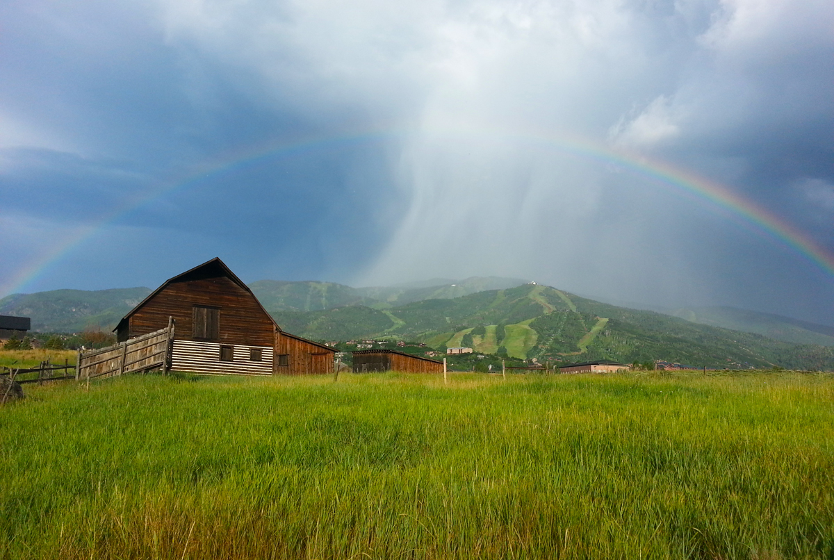 Rainbow over the barn. Submitted by: Dave Peregoy