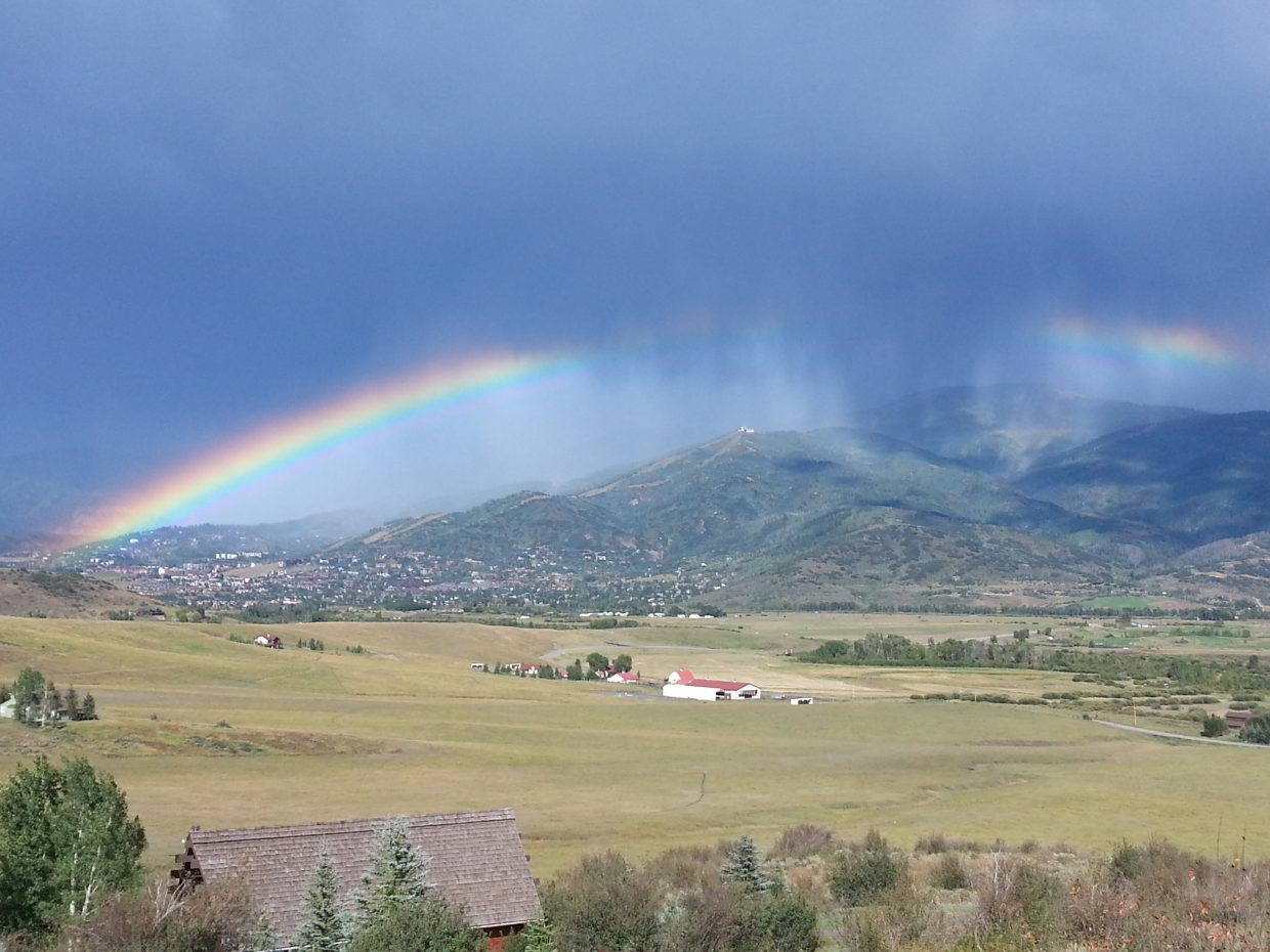 Brilliant Steamboat rainbow... just another day in the 'Boat! Submitted by: Erin Campbell