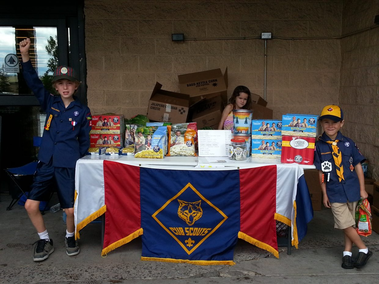 Popcorn for sale — Cub Scouts Pack 194, Steamboat Springs. Submitted by: Karen Lewer