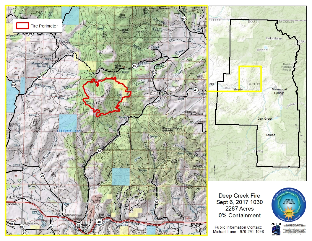 Latest Updates On The Deep Creek Fire Burning In West Routt County