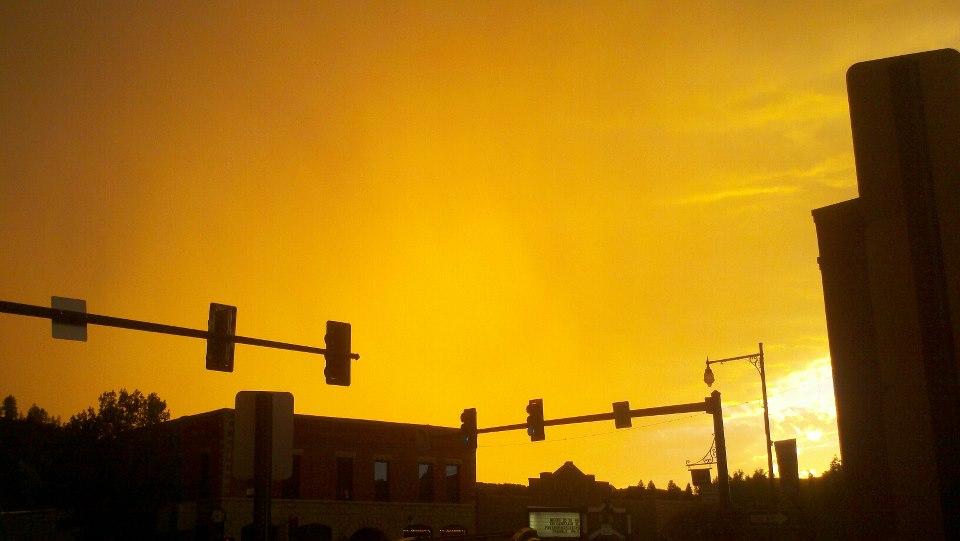 Tangerine sky. Submitted by: Dalton Lee