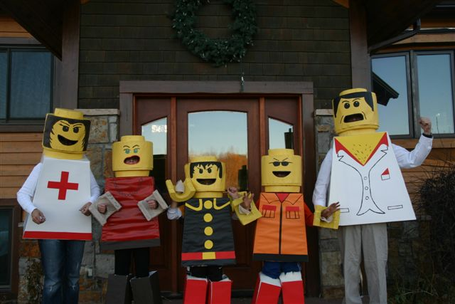 Sharon, Ben, Ashley, Alex and Logan Spiegel dress as Lego people. Submitted by: Sharon Spiegel