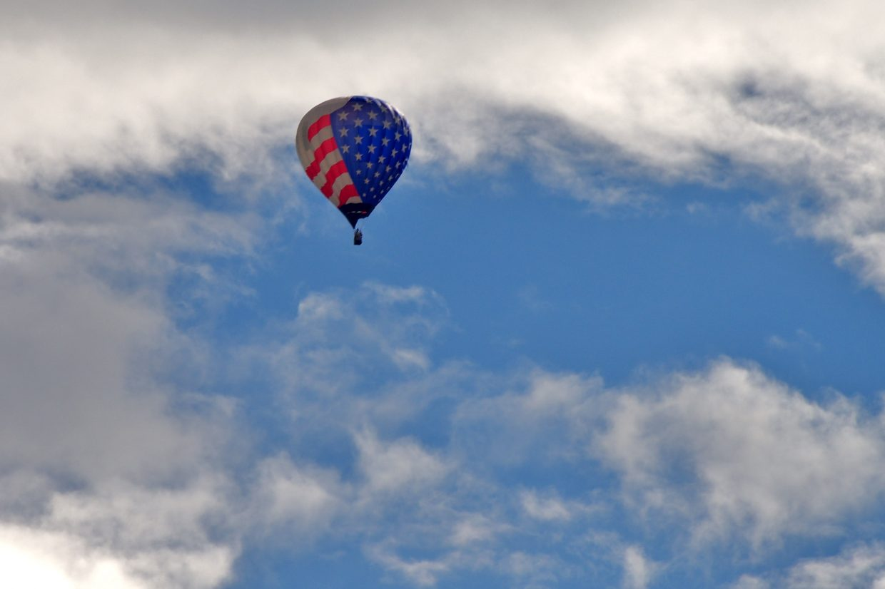 Saturday morning's Hot Air Balloon Rodeo. Submitted by: Matt Helm