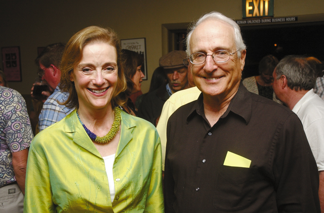 """Marion Kahn, executive director of the Steamboat Springs Arts Council, and professional Steamboat musician John Sant'Ambrogio take a break from """"Cabaret."""""""