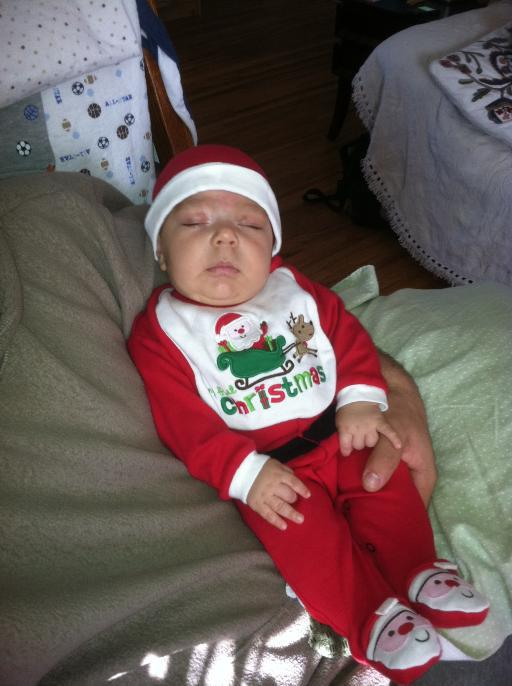 Santa had a very long and exhausting weekend delivering goodies to all. Submitted by: Maryedith Davies