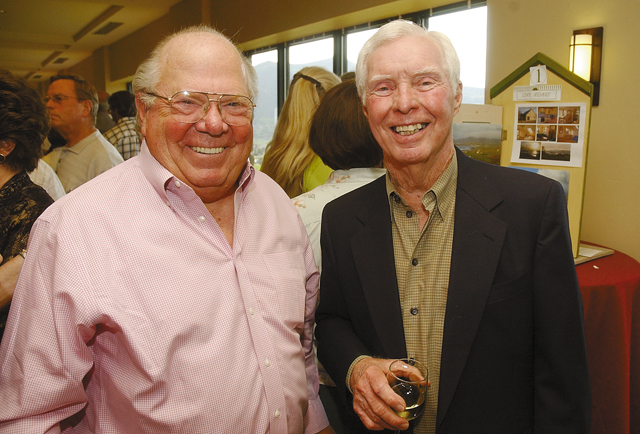 Steamboat residents Verne Lundquist, left, and Art Smith.