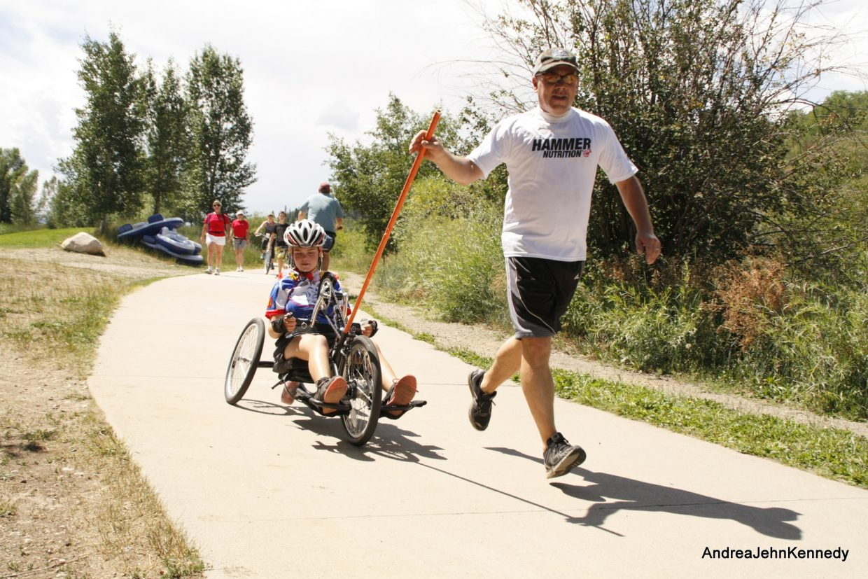 More than 200 riders hit the streets Sunday for the 2013 STARS Biking the Boat Charity Ride Gran Fondo in 100-, 55-, 26-, and 5-mile distances throughout the county. All proceeds from the ride benefit Steamboat Adaptive Recreational Sports, Steamboat's adaptive sports program for people with disabilities. All abilities rode in the charity ride, from local triathletes and cycling regulars to more than a dozen handcyclists and tricyclists. Find more information about the ride at www.steamboatstars.com. Submitted by: Andy J. Kennedy