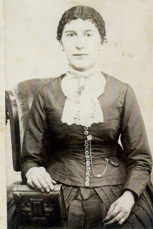 """Miriam Coulter Pence—shown here in a family photo provided by her great-granddaughter Sylvia Duncan — traveled on horseback to tend to her ailing neighbors during the late 1800s in Indiana. Her life was the inspiration for Duncan's first novel, """"Hoosier Woman,"""" published in March."""
