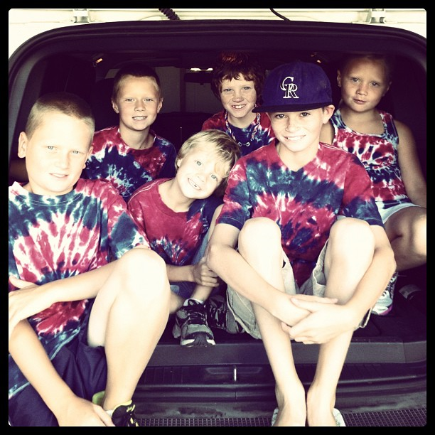 Here are the six kids in tie-dyed T-shirts that the Fourth of July parade article talks about. Thanks for a great Fourth of July, Steamboat! Submitted by: Ashlee Tenney