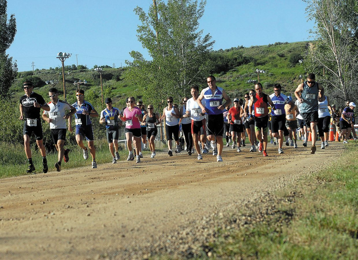 More than 30 runners participated in Sunday's Craig Duathalon.