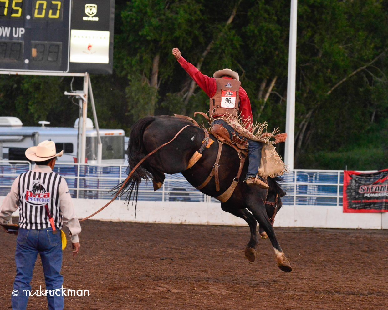 A great time was had at the Steamboat rodeo Saturday night. Submitted by: Mark Ruckman