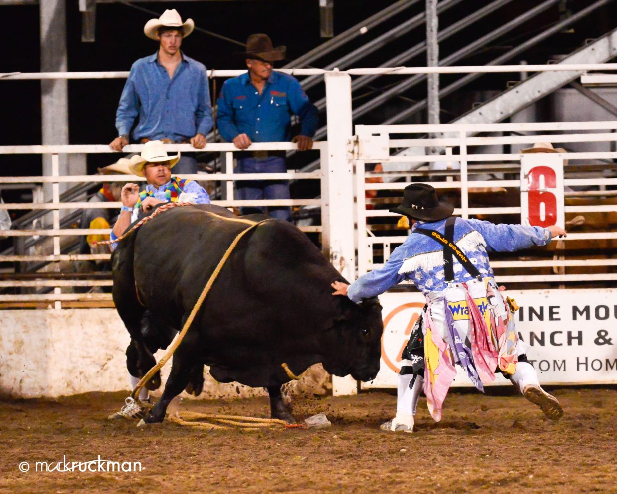 Gary Singer distracting a bull. Submitted by: Mark Ruckman