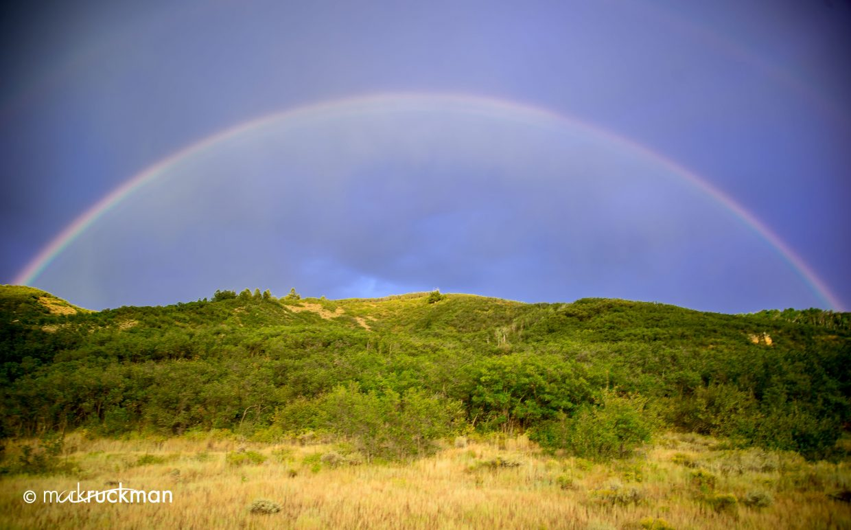 Mountain rainbow. Submitted by: Mark Ruckman